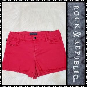 Rock & Republic red womans 12 high rise shorts